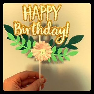 Other - Happy Birthday Cake / Cupcake Topper